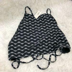 NWT Old Navy Black & White Bikini Swim Top sz XL
